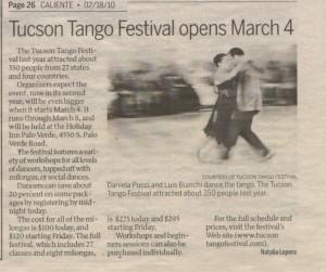 Tucson Tango Festival in Tucson Caliente