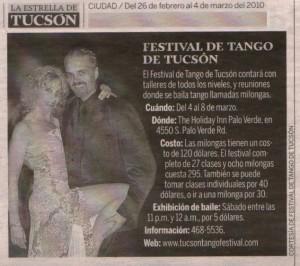 Tucson Tango Festival La Estrella 2010