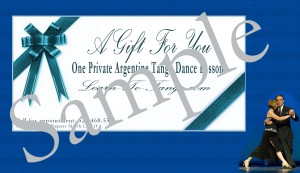 Gift Certificate-Sample
